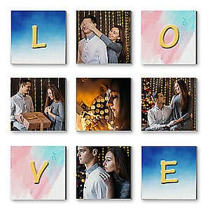 Multi Canvas Print - Love