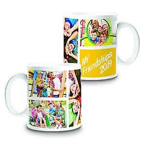 Photo Mug Friendship Collage 4 - 11oz
