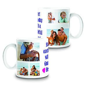 Photo Mug Message Collage 6 - 11oz