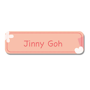 Small Name Label - Peach