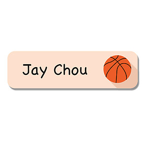 Small Name Label - Basketball