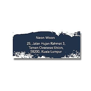 Address Label - Navy Paint