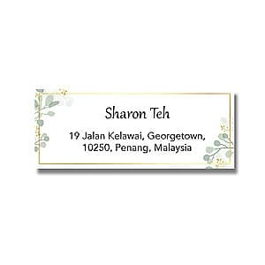 Address Label - Spring