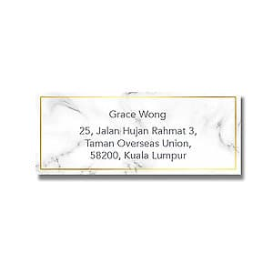 Address Label - Marble