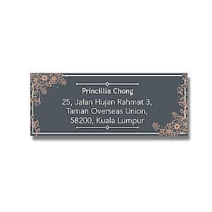 Address Label - Gold Flowers