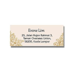 Address Label - Beige Flowers