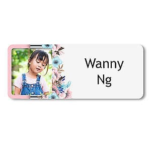Medium Photo Name Label - Sweet Flowers
