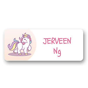 Medium Name Label - Unicorn
