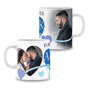 Photo Mug Forever Love Blue - 11oz