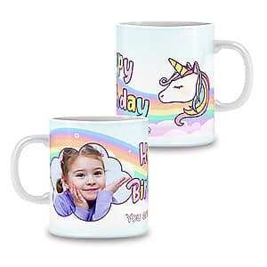 Photo Mug Unicorn Birthday - 11oz