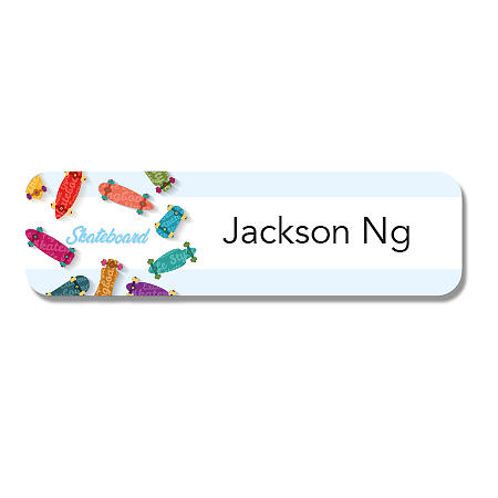 Small Name Label - Skateboard