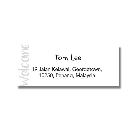 Address Label - Welcome