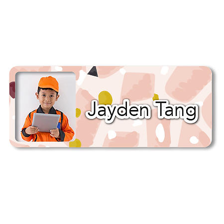 Medium Photo Name Label - Patches