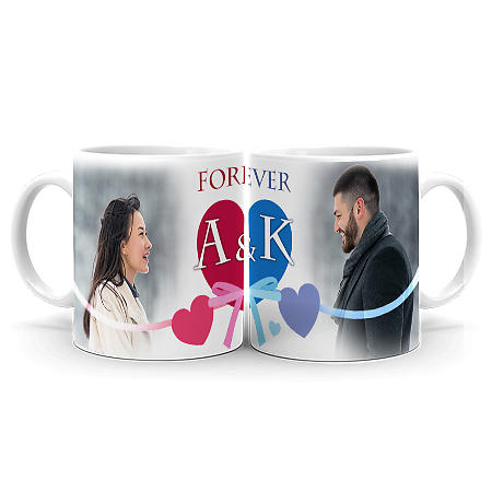 Photo Mug Forever Love Couple Set - 11oz