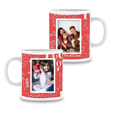Photo Mug Love Peace Joy - 11oz