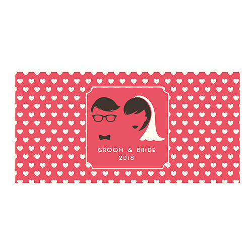 Groom & Bride - Large Landscape Sticker